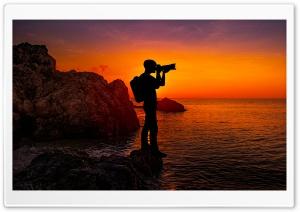 Photographer Silhouette, Sunset Ultra HD Wallpaper for 4K UHD Widescreen desktop, tablet & smartphone