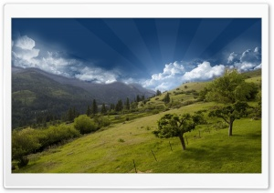 Photoshop Hilltop Mountain Sky HD Wide Wallpaper for Widescreen