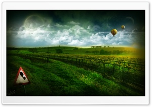 Photoshop Vineyard HD Wide Wallpaper for Widescreen