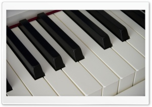 Piano Keyboard Close-up Ultra HD Wallpaper for 4K UHD Widescreen desktop, tablet & smartphone