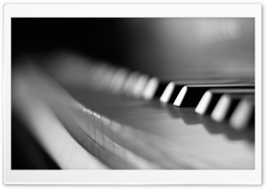 Piano Keyboard Macro HD Wide Wallpaper for Widescreen
