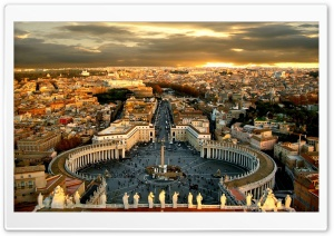 Piazza San Pietro HD Wide Wallpaper for 4K UHD Widescreen desktop & smartphone