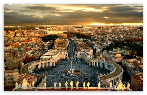 Piazza San Pietro HD wallpaper for Wide 16:10 5:3 Widescreen WHXGA WQXGA WUXGA WXGA WGA ; HD 16:9 High Definition WQHD QWXGA 1080p 900p 720p QHD nHD ; Mobile 5:3 16:9 - WGA WQHD QWXGA 1080p 900p 720p QHD nHD ;