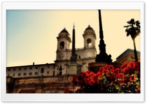 Piazza Spagna HD Wide Wallpaper for Widescreen