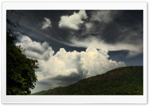 Pico de Loro Mountain and Clouds HD Wide Wallpaper for Widescreen