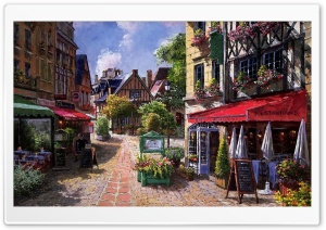 Picturesque Street HD Wide Wallpaper for Widescreen