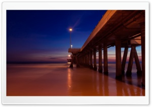 Pier At Night HD Wide Wallpaper for Widescreen