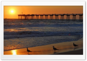 Pier At Sunrise HD Wide Wallpaper for Widescreen