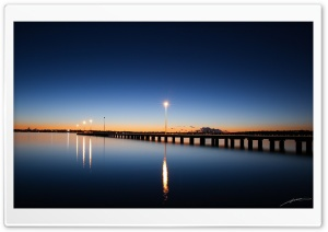 Pier At Sunset HD Wide Wallpaper for Widescreen