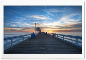 Pier At Sunset HDR HD Wide Wallpaper for Widescreen