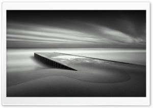 Pier Black And White HD Wide Wallpaper for Widescreen