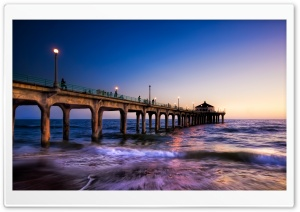 Pier Dusk HD Wide Wallpaper for Widescreen