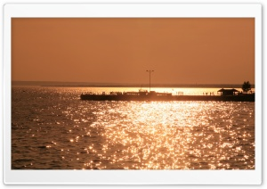 Pier In Sunset Light HD Wide Wallpaper for Widescreen