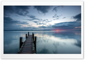 Pier On The Lake HD Wide Wallpaper for 4K UHD Widescreen desktop & smartphone