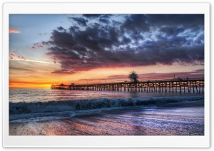 Pier Sunset Ultra HD Wallpaper for 4K UHD Widescreen desktop, tablet & smartphone