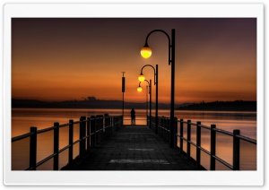Pier Sunset HD Wide Wallpaper for Widescreen