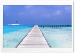 Pier Tropical Seascape HD Wide Wallpaper for 4K UHD Widescreen desktop & smartphone