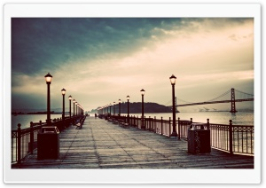 Pier Vintage HD Wide Wallpaper for Widescreen