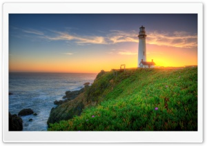 Pigeon Point Lighthouse, California HD Wide Wallpaper for 4K UHD Widescreen desktop & smartphone