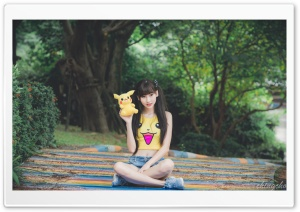 Pikachu Girl HD Wide Wallpaper for Widescreen