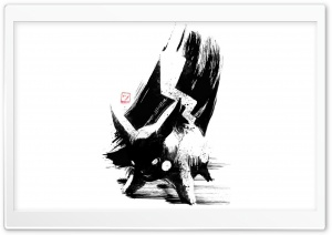 Pikachu Ink Brush HD Wide Wallpaper for Widescreen