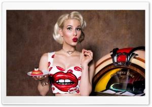 Pin-up Girl, Jukebox, Retro Ultra HD Wallpaper for 4K UHD Widescreen desktop, tablet & smartphone