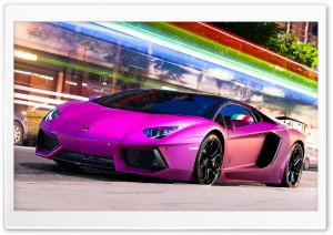 Pink Aventador HD Wide Wallpaper for Widescreen