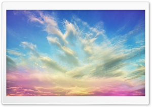 Pink Clouds HD Wide Wallpaper for Widescreen