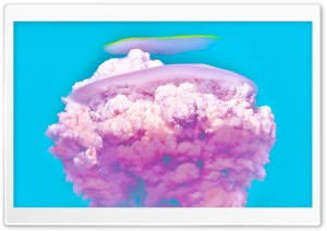 Pink Cotton Candy Nuke Explosion Aesthetic Ultra HD Wallpaper for 4K UHD Widescreen desktop, tablet & smartphone
