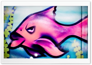 Pink Fish Lips HD Wide Wallpaper for Widescreen