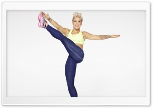 Pink Fitness Outfit HD Wide Wallpaper for Widescreen