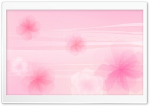 Pink Flowers Background HD Wide Wallpaper for Widescreen