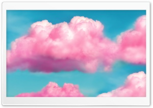Pink Fluffy Clouds HD Wide Wallpaper for Widescreen