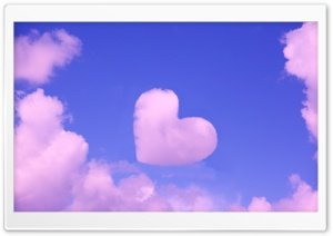 Pink Heart Cloud HD Wide Wallpaper for Widescreen