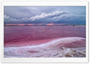 Pink Lake In Spain HD Wide Wallpaper for Widescreen
