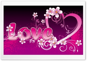 Pink Love HD Wide Wallpaper for Widescreen