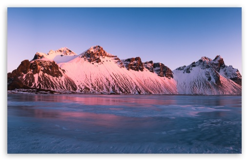 Pink Sunrise, Vestrahorn Mountains, Iceland UltraHD Wallpaper for Wide 16:10 5:3 Widescreen WHXGA WQXGA WUXGA WXGA WGA ; 8K UHD TV 16:9 Ultra High Definition 2160p 1440p 1080p 900p 720p ; Standard 4:3 3:2 Fullscreen UXGA XGA SVGA DVGA HVGA HQVGA ( Apple PowerBook G4 iPhone 4 3G 3GS iPod Touch ) ; Smartphone 16:9 3:2 5:3 2160p 1440p 1080p 900p 720p DVGA HVGA HQVGA ( Apple PowerBook G4 iPhone 4 3G 3GS iPod Touch ) WGA ; iPad 1/2/Mini ; Mobile 4:3 5:3 3:2 16:9 5:4 - UXGA XGA SVGA WGA DVGA HVGA HQVGA ( Apple PowerBook G4 iPhone 4 3G 3GS iPod Touch ) 2160p 1440p 1080p 900p 720p QSXGA SXGA ;