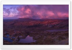 Pink Sunset Clouds, Mountains Ultra HD Wallpaper for 4K UHD Widescreen desktop, tablet & smartphone