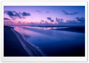 Pink Sunset Reflected In The Sea HD Wide Wallpaper for Widescreen