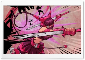 Pink Sword Girl HD Wide Wallpaper for 4K UHD Widescreen desktop & smartphone