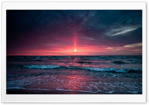 Pinkish Sunset HD Wide Wallpaper for Widescreen