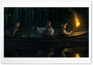 Pirates, Night HD Wide Wallpaper for Widescreen