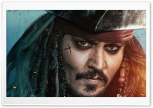 Pirates of the Caribbean Dead Men Tell No Tales Jack Sparrow 5K HD Wide Wallpaper for Widescreen