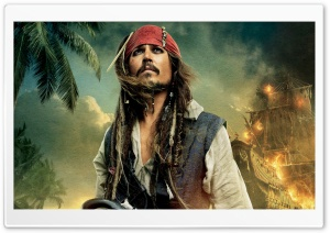 Pirates Of The Caribbean On Stranger Tides 2011 - Johnny Depp As Captain Jack Sparrow HD Wide Wallpaper for Widescreen