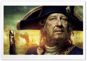 Pirates Of The Caribbean On Stranger Tides - Barbossa HD Wide Wallpaper for Widescreen