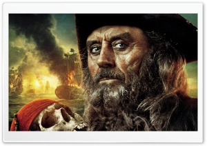 Pirates Of The Caribbean On Stranger Tides - Blackbeard HD Wide Wallpaper for 4K UHD Widescreen desktop & smartphone