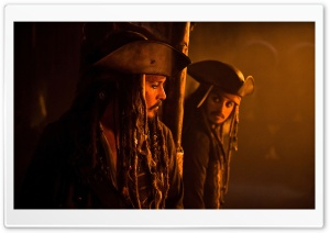 Pirates Of The Caribbean On Stranger Tides, Jack And Angelica HD Wide Wallpaper for Widescreen