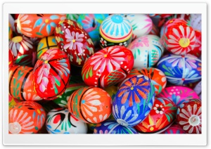 Pisanki Easter Eggs HD Wide Wallpaper for Widescreen
