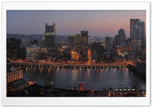 Pittsburgh Panorama HD Wide Wallpaper for Widescreen