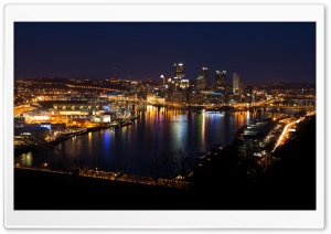 Pittsburgh Skyline HD Wide Wallpaper for 4K UHD Widescreen desktop & smartphone